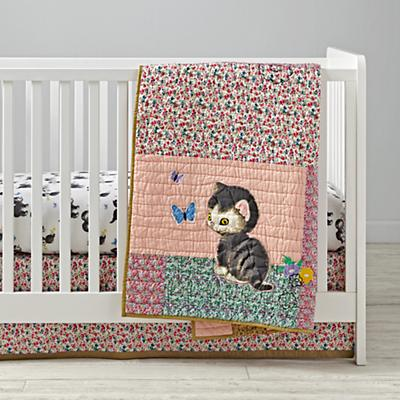 Shy Little Kitten Baby Quilt