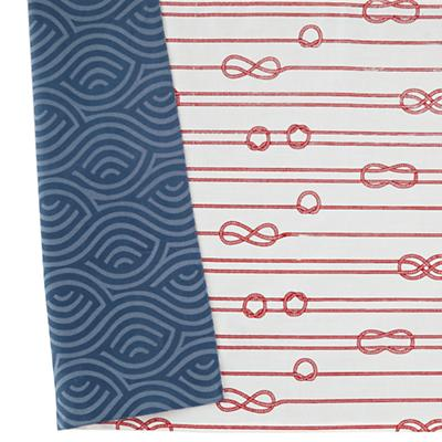 Sail On Reversible Crib Skirt