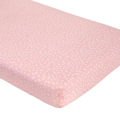Sleep Tight Fitted Crib Sheet (Pink Star)