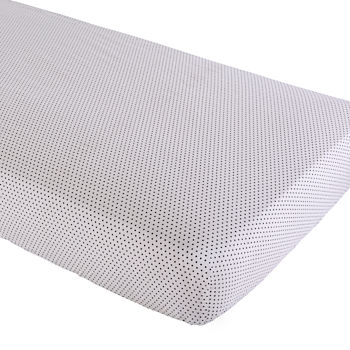 Organic Swiss Dot Crib Fitted Sheet