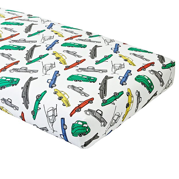 Organic Traffic Jam Crib Fitted Sheet