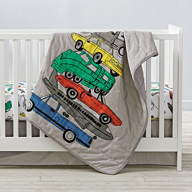 Traffic Jam Crib Bedding and Quilt