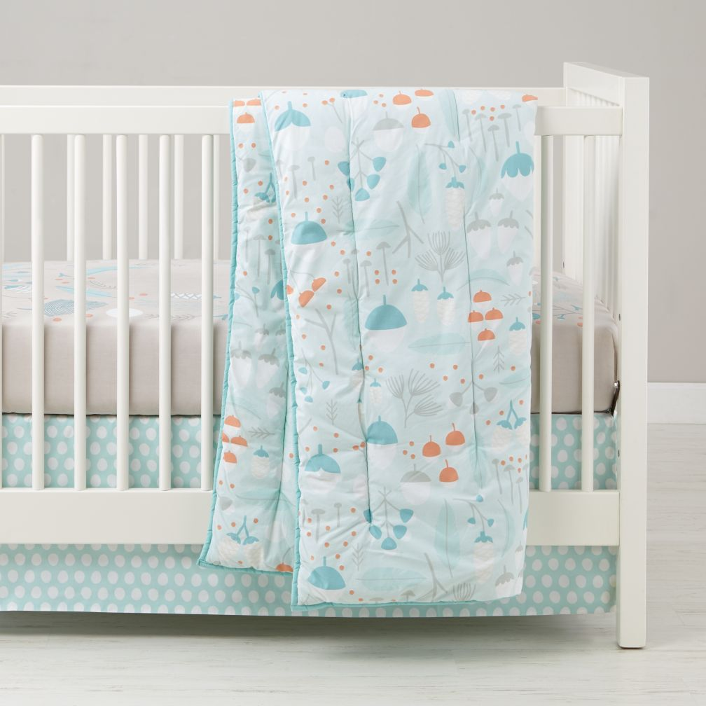 well nested branch  acorn baby bedding  the land of nod -