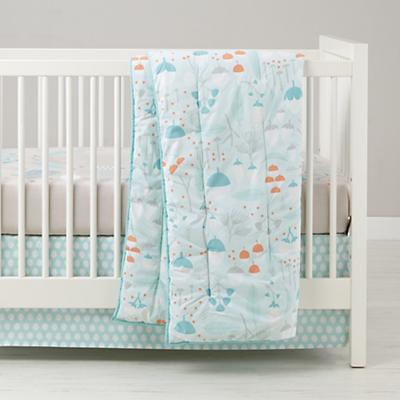 Well Nested Organic Crib Bedding (Blue)