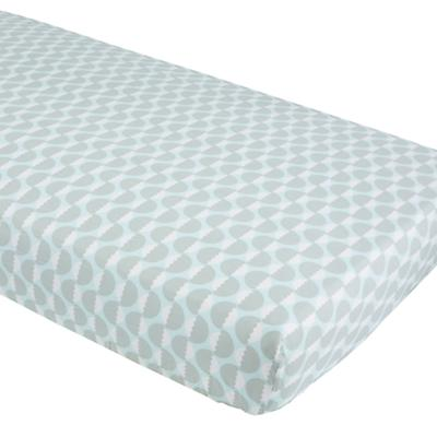 Organic Well Nested Blue Acorn Crib Fitted Sheet
