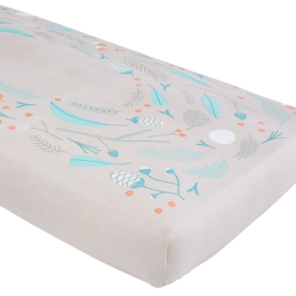 organic well nested blue nest crib fitted sheet  the land of nod -