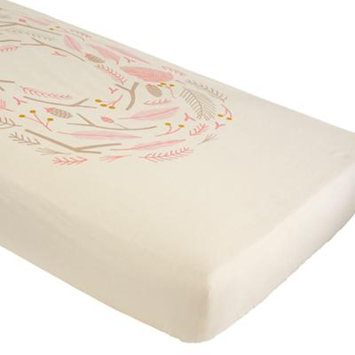 Organic Well Nested Pink Nest Crib Fitted Sheet