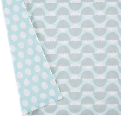 Organic Well Nested Blue Crib Skirt