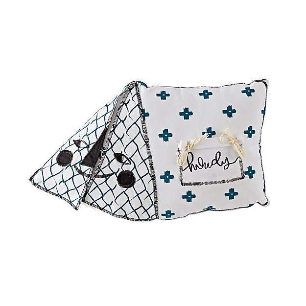 Campground Throw Pillow (Tent)
