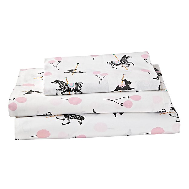 Organic Carousel Twin Sheet Set