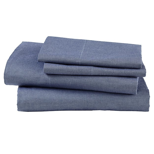 Blue Chambray Sheet Set (Full)