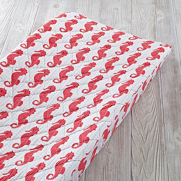High Seas Changing Pad Cover (Seahorse)