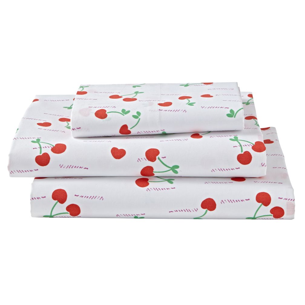Twin Cherry on Top Sheet Set