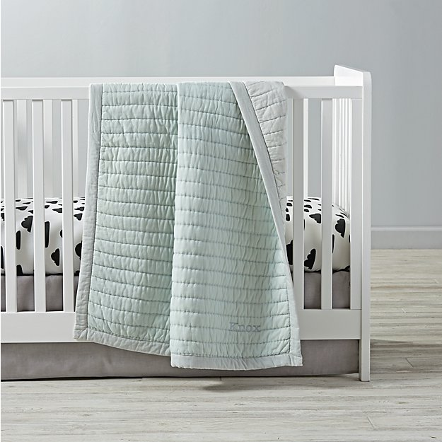 Cotton Candy Crib Bedding (Mint) | The Land of Nod : cotton candy quilts - Adamdwight.com