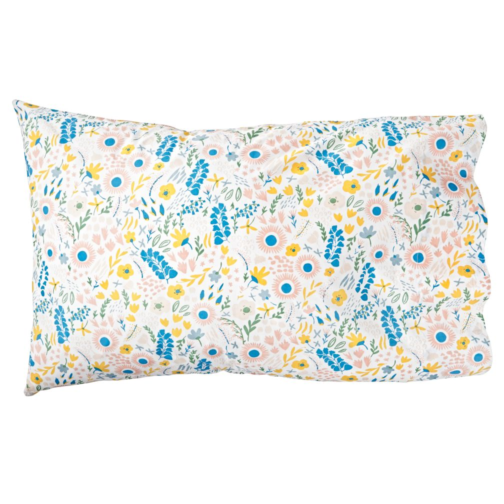 Organic Floral Rush Pillowcase