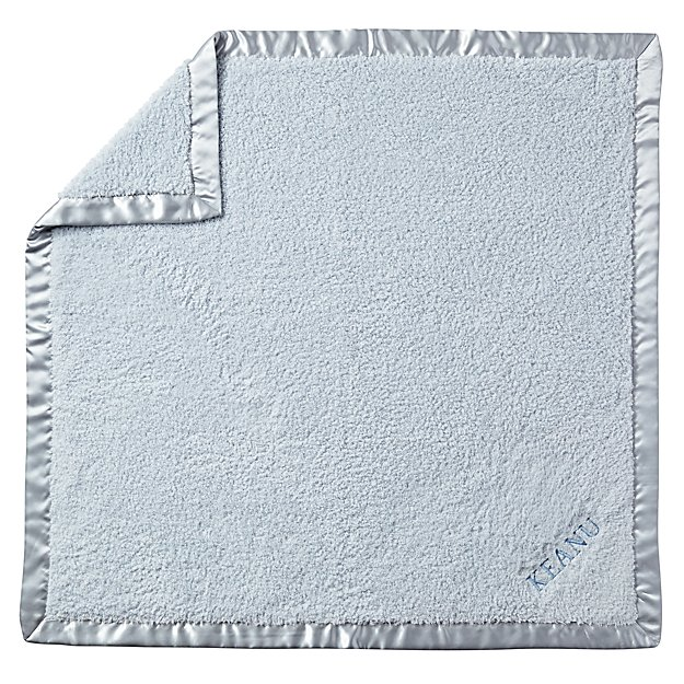 Personalized Cuddle Me Softly Baby Blanket (Blue)