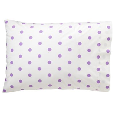 Purple Polka Dot Pillowcase