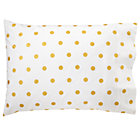 Organic Gold Dot Pillowcase