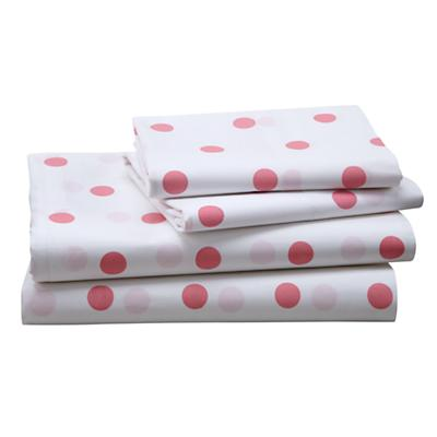 Pink Polka Dot Sheet Set (Full)
