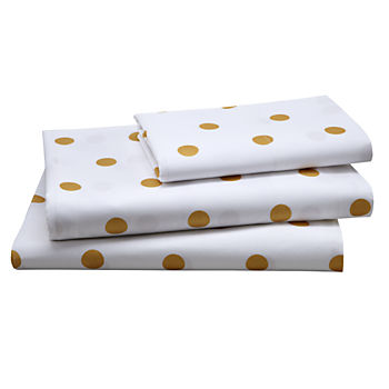 Organic Gold Dot Twin Sheet Set