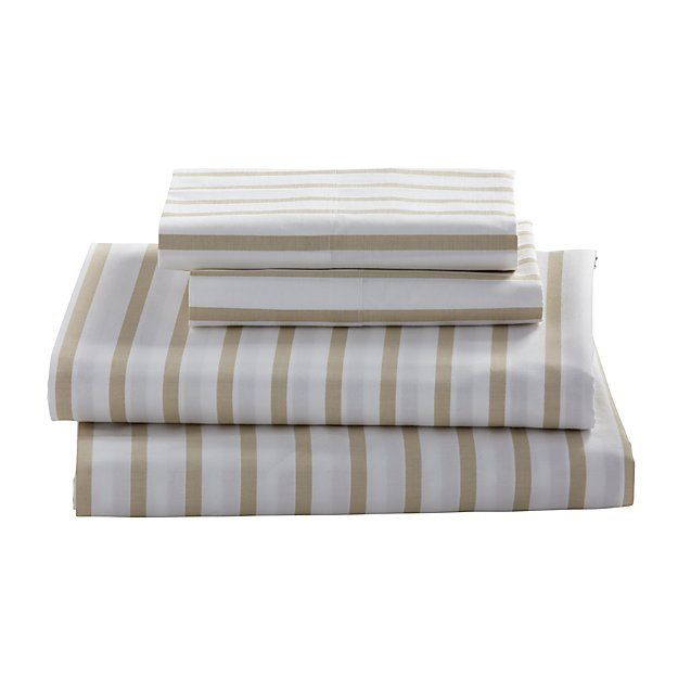 Queen Early Edition Sheet Set (Khaki Stripe)