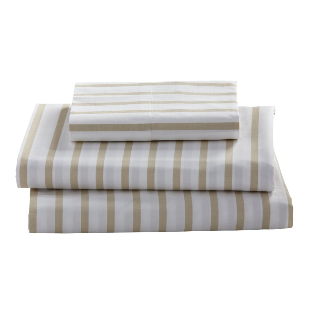 Twin Early Edition Sheet Set (Khaki Stripe)
