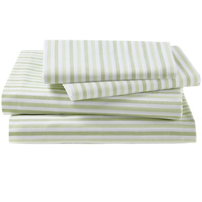 Breezy Stripe Green Sheet Set (Full)