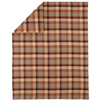 Full/Queen Brown Plaid Flannel Duvet Cover