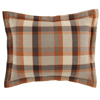 Brown Plaid Flannel Sham