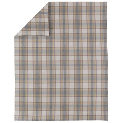Grey Plaid Flannel Duvet Cover (Full-Queen)