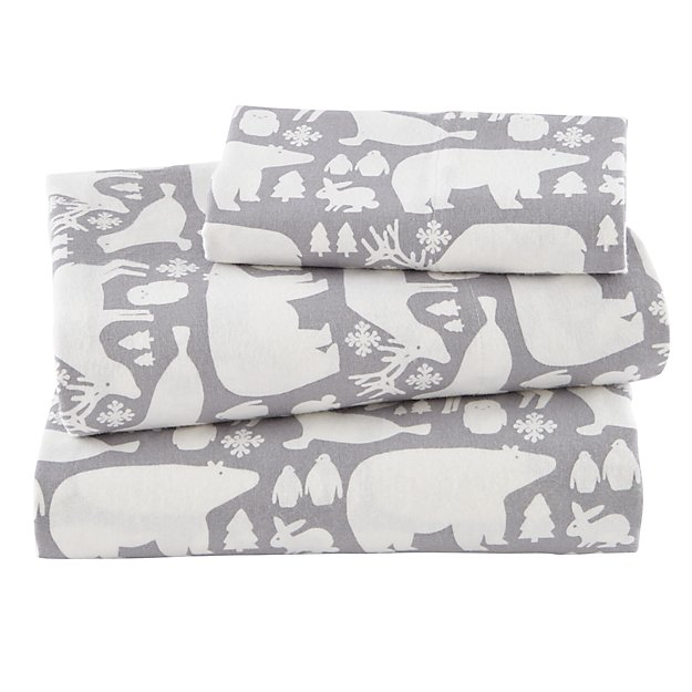 Great White North Flannel Twin Sheet Set