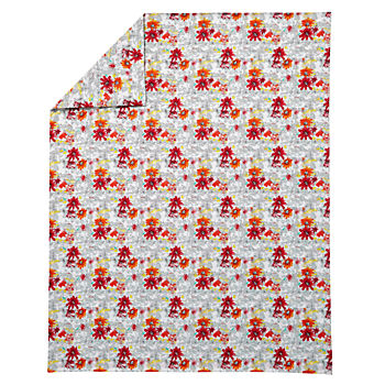 Twin Floral Pop Duvet Cover