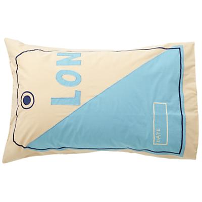 Luggage Tag Pillowcase