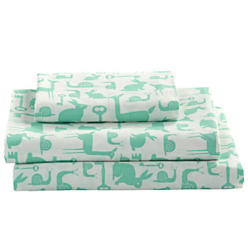 Organic Folktale Forest Twin Sheet Set