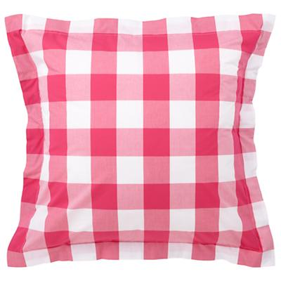 Hot Pink Breezy Gingham Euro Sham