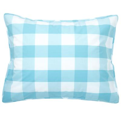 Blue Breezy Gingham Sham