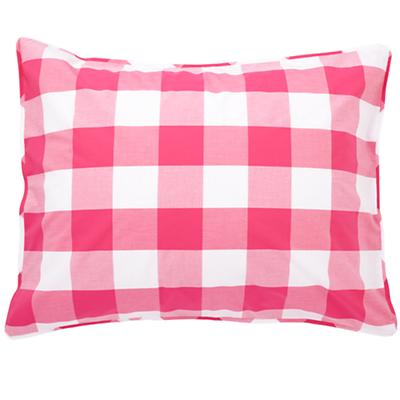 Hot Pink Breezy Gingham Sham