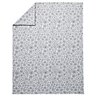 Twin Grey Go Lightly Floral Duvet Cover.