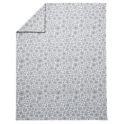 Full-Queen Go Lightly Floral Duvet Cover (Grey)