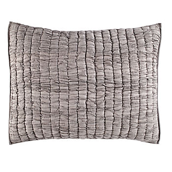 Go Lightly Quilted Sham (Grey)