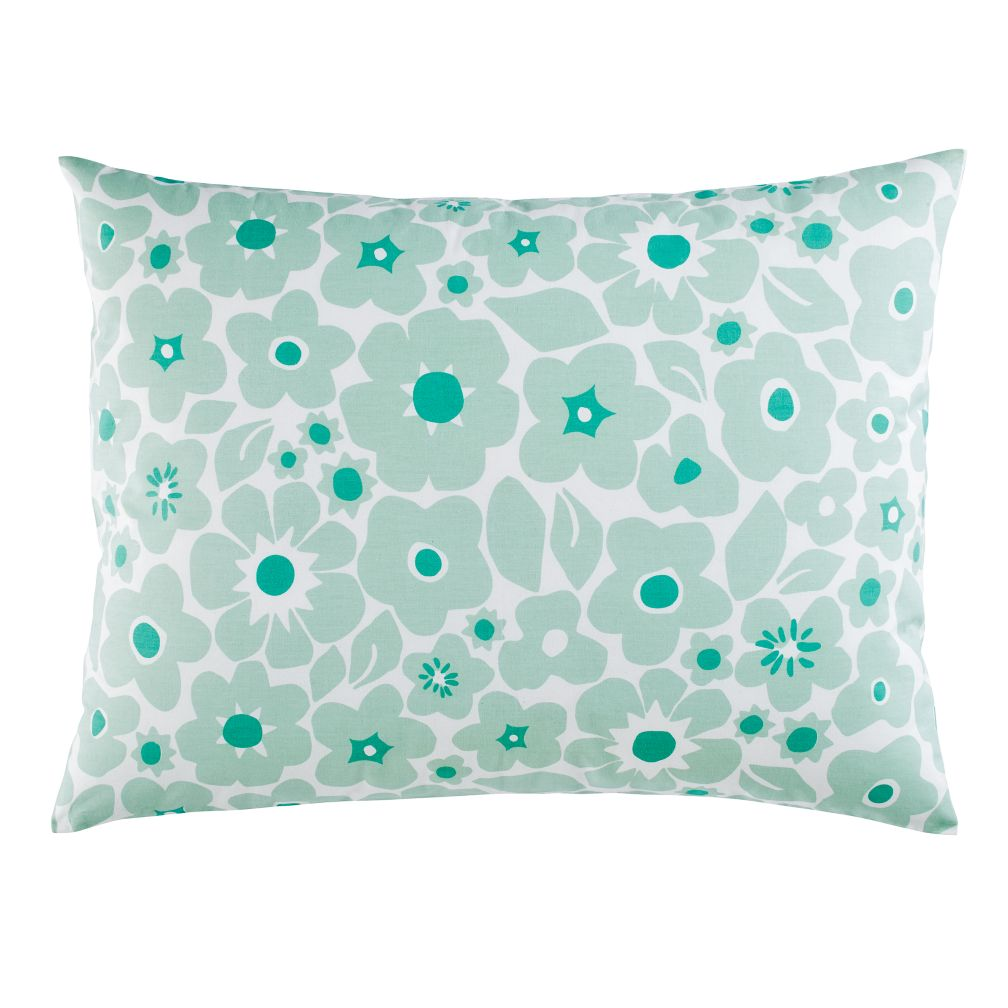 Go Lightly Floral Sham (Mint)