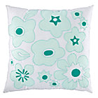 Mint Go Lightly Throw Pillow