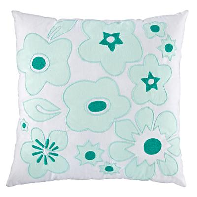 Go Lightly Throw Pillow (Mint)