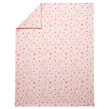 Twin Go Lightly Floral Duvet Cover (Pink)