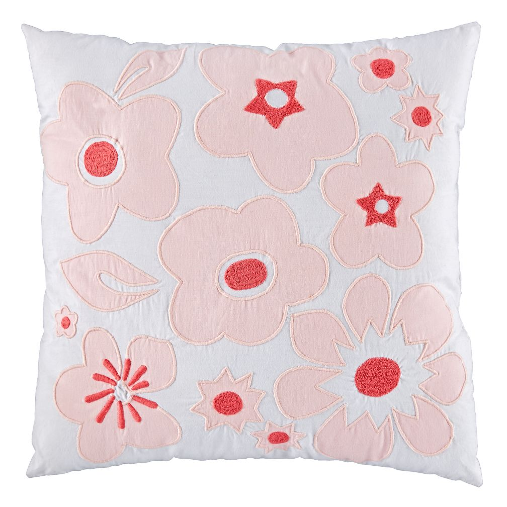 Go Lightly Throw Pillow (Pink)
