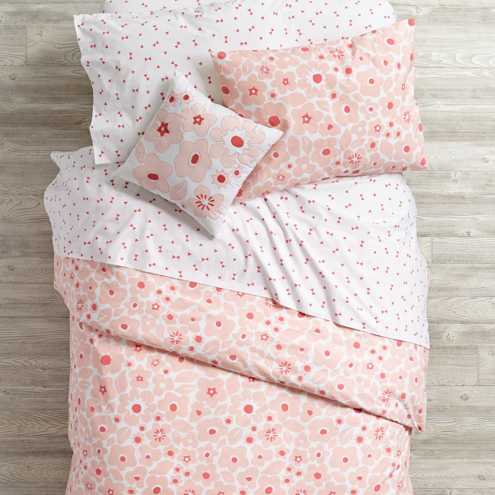 Go Lightly Floral Duvet Cover (Pink)