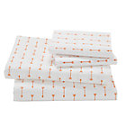 Queen Orange Arrow Sheet SetIncludes fitted sheet, flat sheet and two pillowcases
