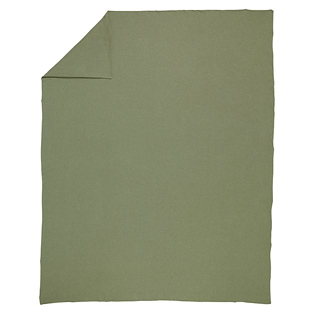 Full-Queen Pure Jersey Duvet Cover (Green)