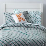 Little Prints Duvet Cover (Green Stripe)