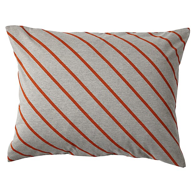Little Prints Sham (Orange Stripe)